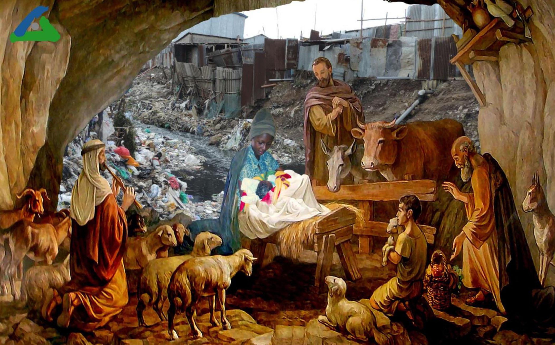 © Photos von Anne und Mukuru von Timothy Kilaka; Weihnachtsbild aus der Kapelle von Beit Sahour, Bethlehem,