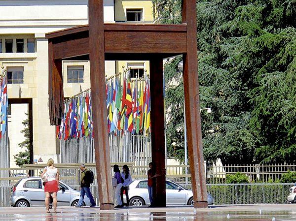 Denkmal für Landminenopfer