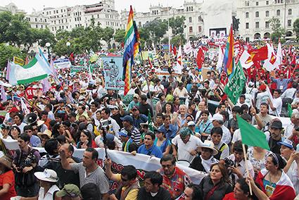 Der Marsch für das Wasser. Protest gegen den Goldabbau in Conga.