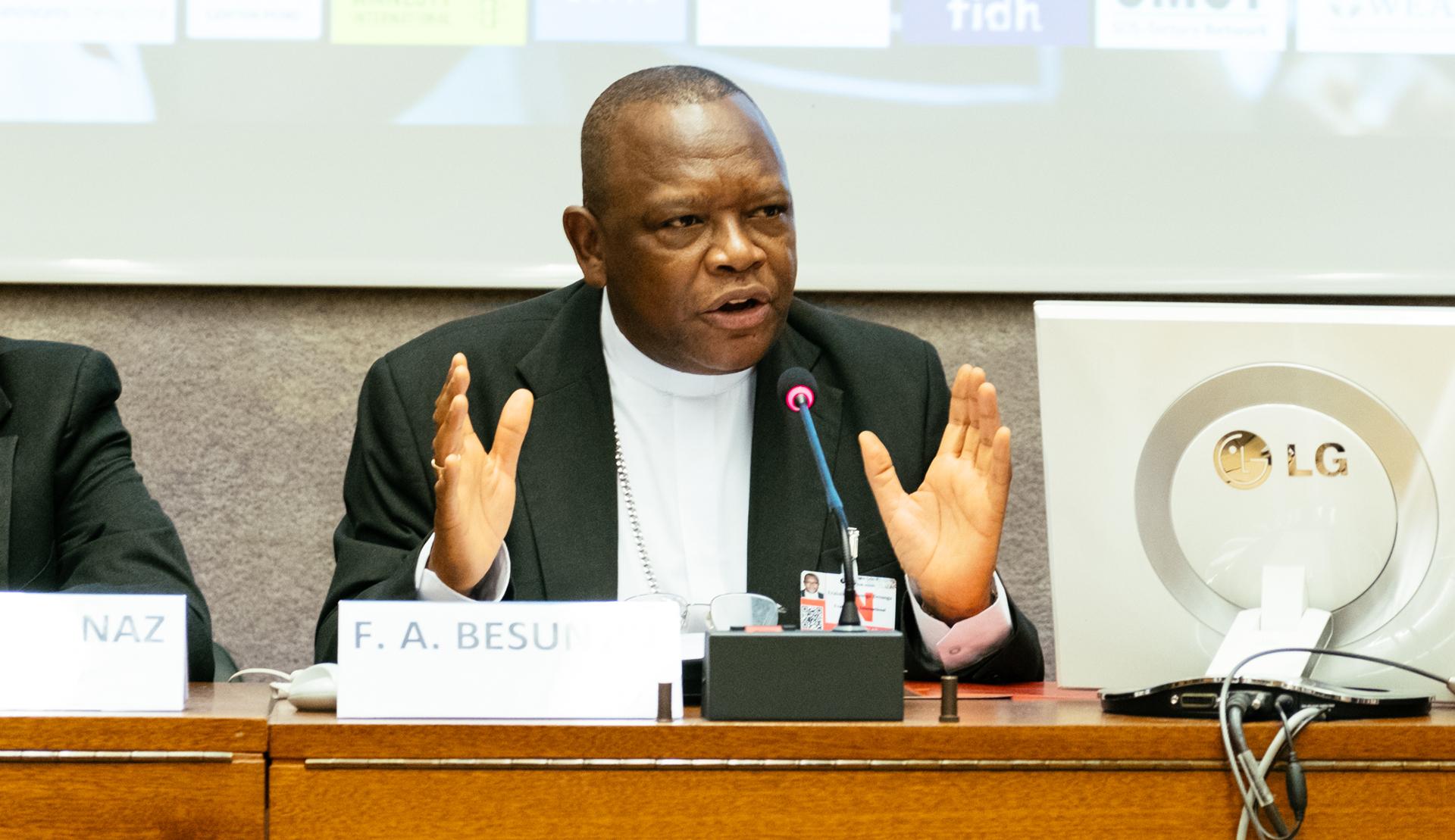 Der neue Fridolin Kardinal Ambongo aus Kongo-Kinshasa. © Franciscan International