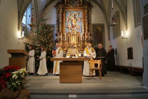 Festgottesdienst zu Ehren des 90. Geburtstag von Br. Oktavian Schmucki (Bild: Br. Karl Flury)