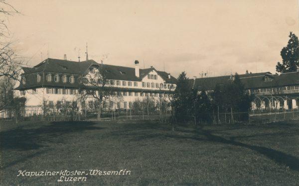 Kapuzinergarten um 1915