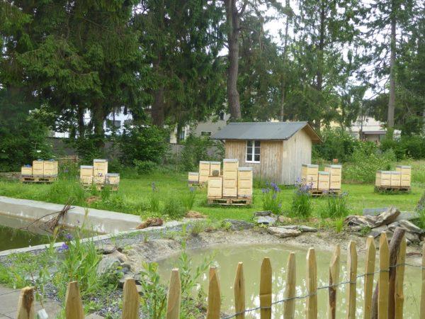 neues Bienenmaterialhaus mit Magazinen
