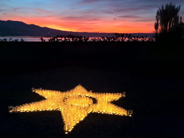 Kerzen-Stern im Klostergarten