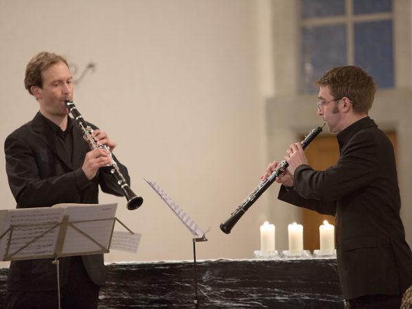 Stephan Britt und Beat Anderwert - Begegnung von Klarinette mit Oboe.