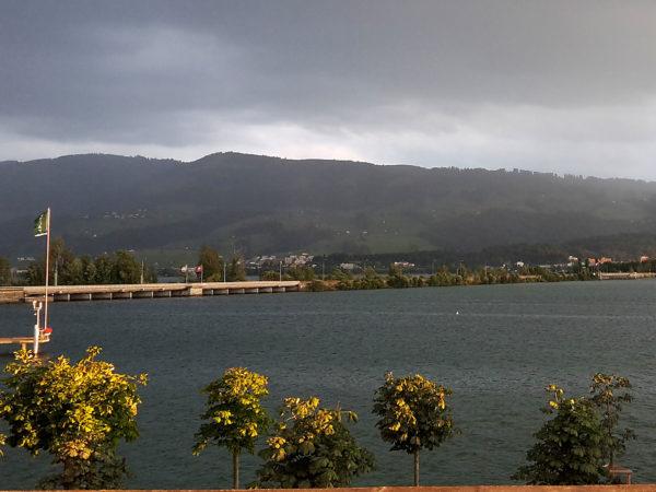 Gewitterstimmung in Richtung Damm.