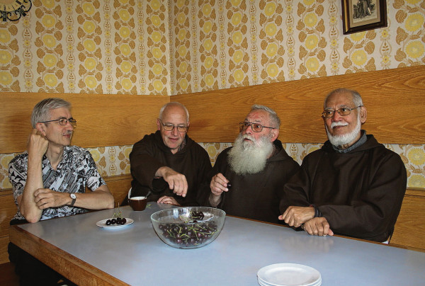Br. Josef, Br. Urs, Br. Richard, Br. John