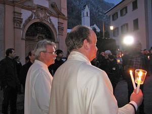 Willi Anderau (links) mit Markus Heil, dem Koordinator der Pfarrei-Initiative.