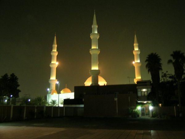 """Grosse Moschee, im Vordergrund """"katholischer Bezirk""""... © Walter Ludin"""