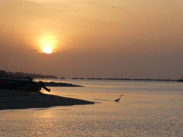 Sonnenuntergang am Strand von Mannar © Stefan Rüde