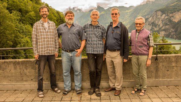 Provinzrat: v.l.r.: Niklaus Kuster, Adrian Müller, Josef Haselbach (Provinzial), Marcel Durrer, Ephrem Bucher